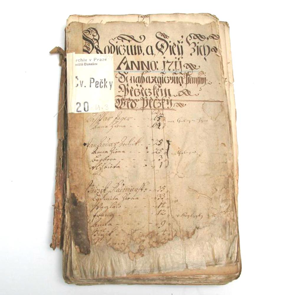 Titulní list s původními správkami před zásahem