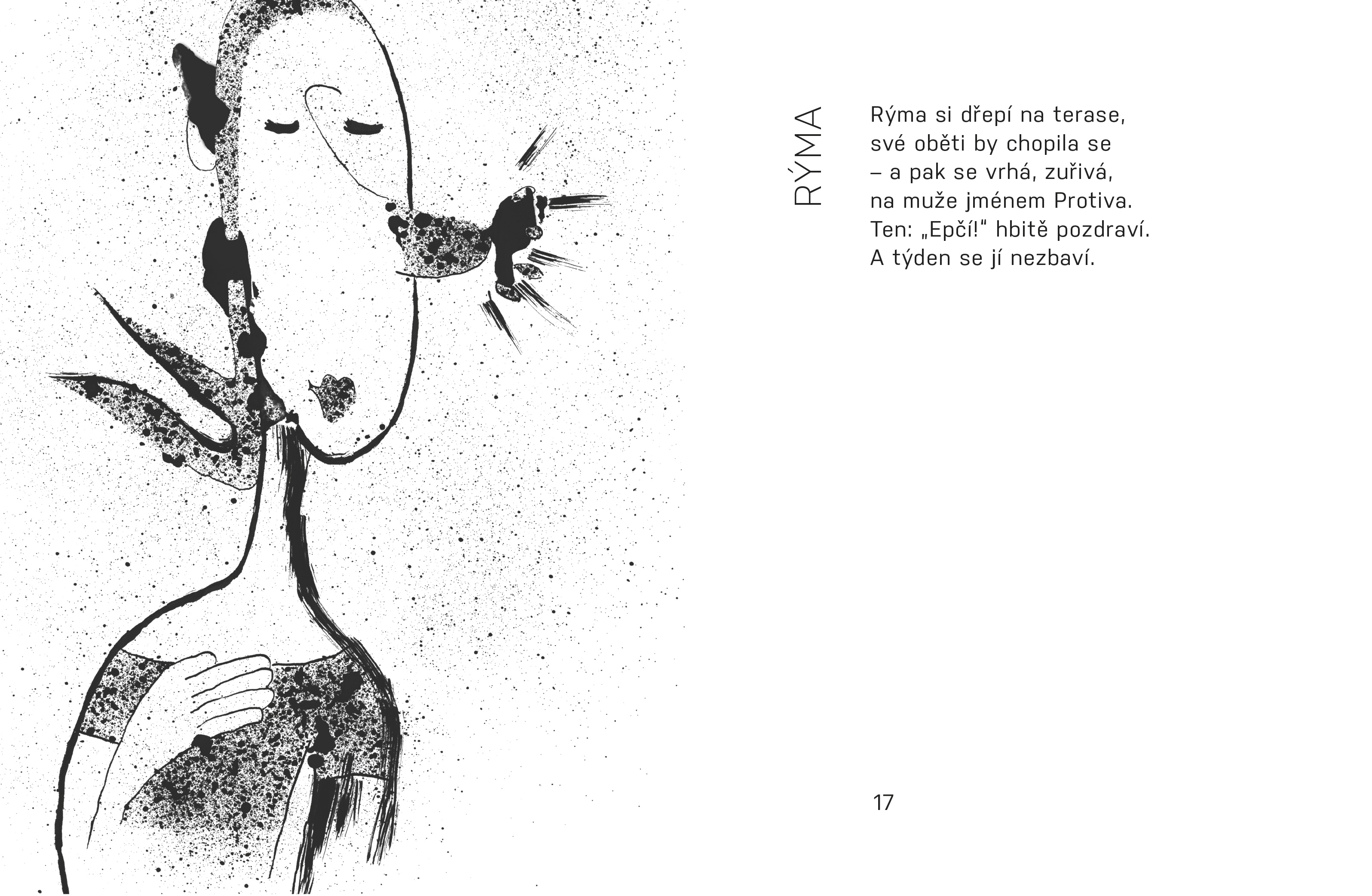 P2B<br> Christian Morgenstern, Vybrané verše<br> (ilustrace a grafické úprava knižního bloku a přebalu knihy)<br> Klauzurní práce 2018 | 2.ročník