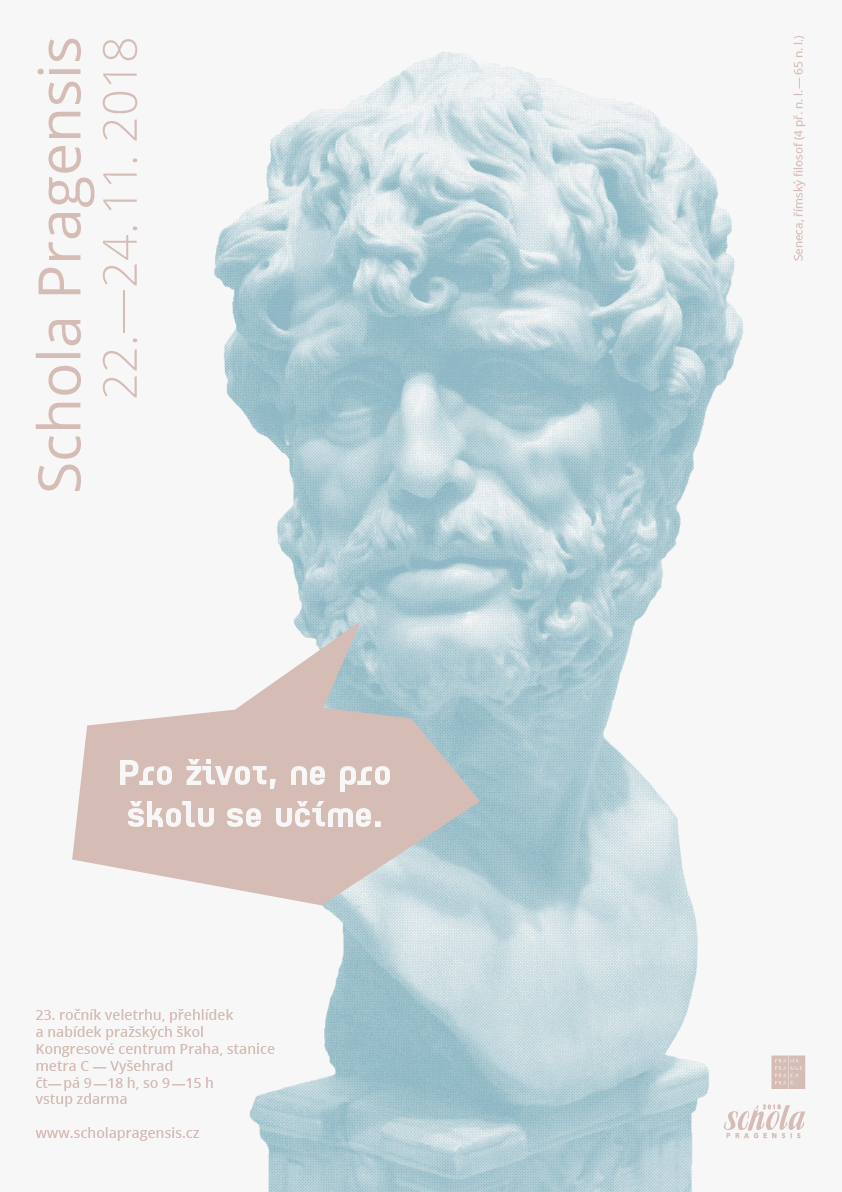 V4g<br> schola pragensis 2018<br> vítězný návrh plakátu | 4. ročník