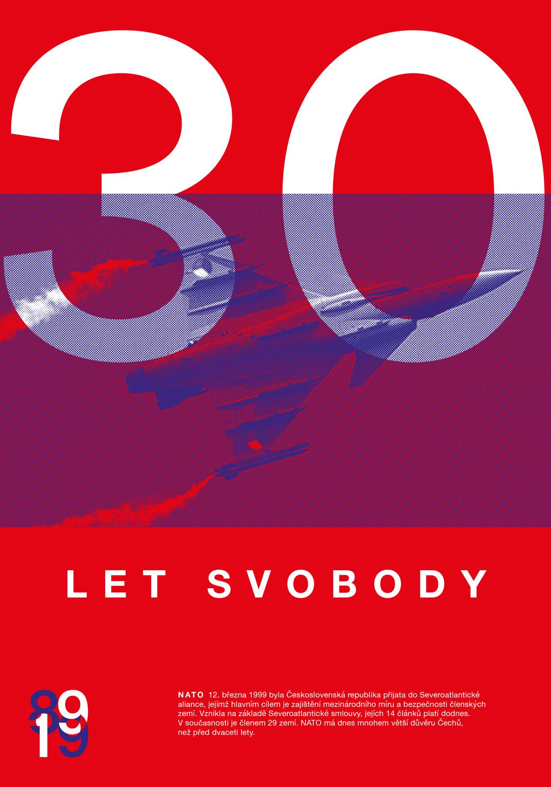 30 let svobody<br> soubor plakátů   maturitní práce<br> 2019   4. ročník