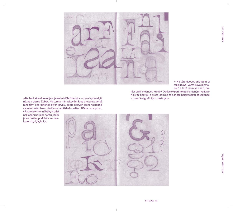 G3A01<br> Dvoustrana z teoretické práce s vlasní abecedou<br> absolventská práce | 3. ročník, 2018