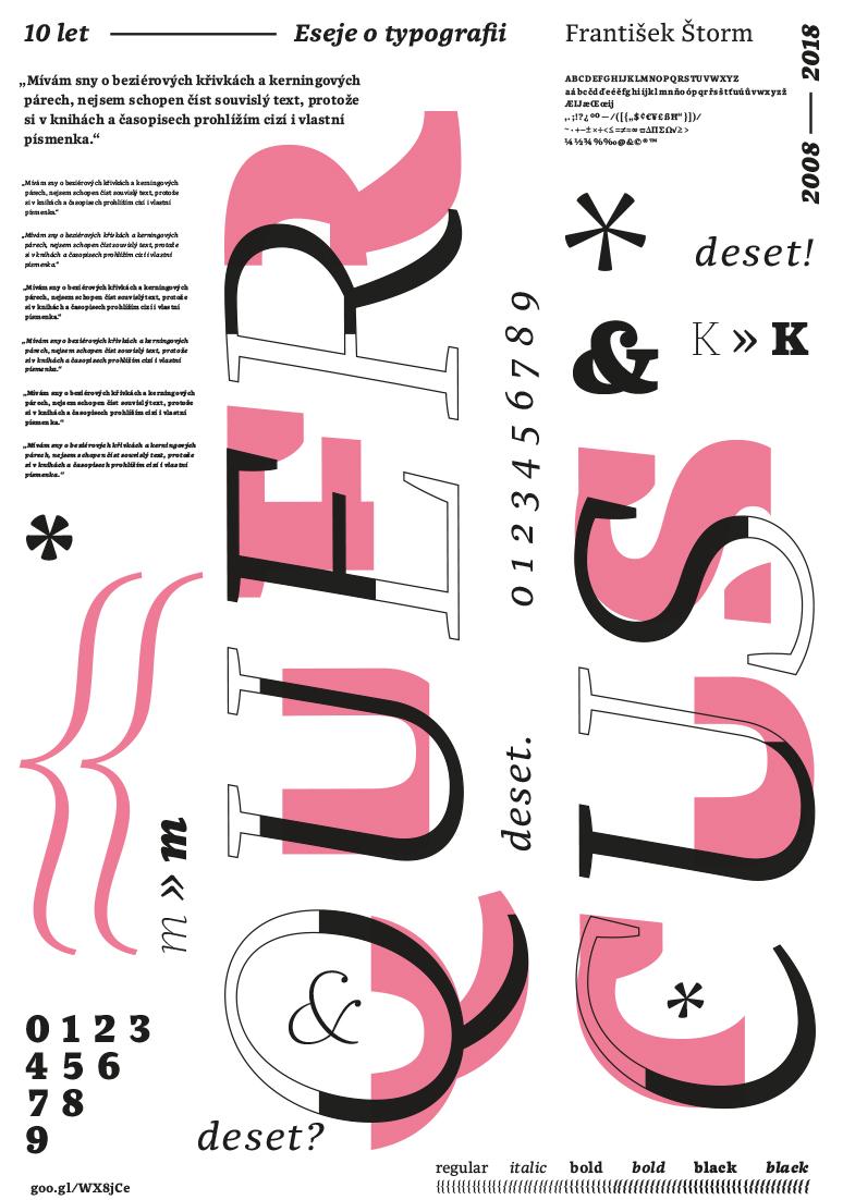 G3A01<br> Typografické plakáty z písem Františka Štorma <br> absolventská práce | 3. ročník, 2018