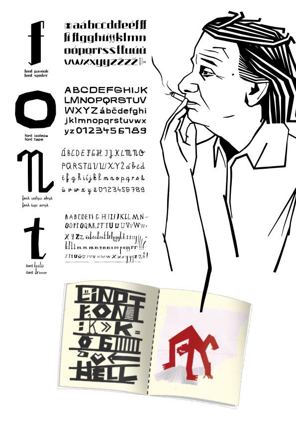 G3A01<br> Plakát k vlastní abecedě <br> absolventská práce | 3. ročník, 2018