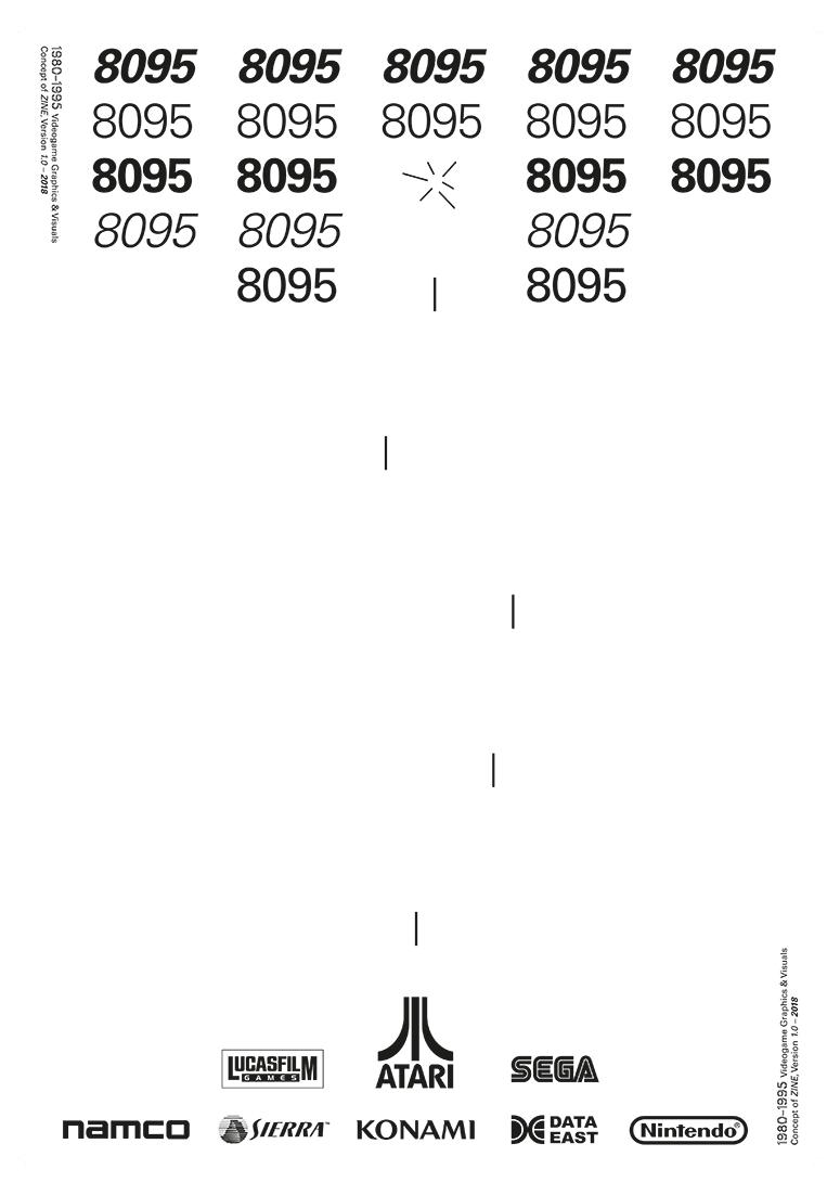 G3A01<br> Videohry 1980–1995, nakladatelský plakát <br> absolventská práce | 3. ročník, 2018
