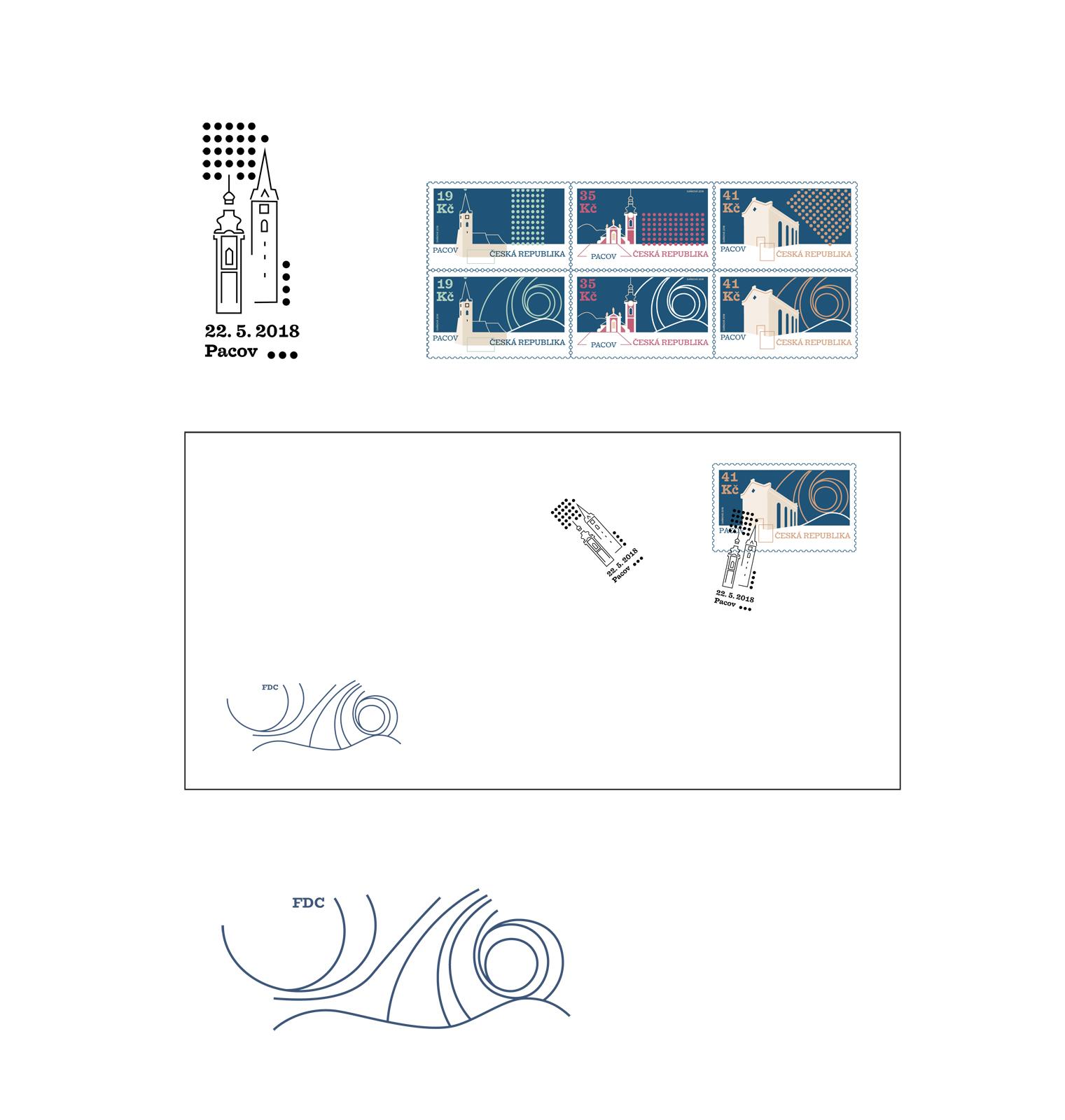G1A01 <br> Série známek, FDC, razítko, přítisk <br> klauzurní práce | 1 ročník <br>