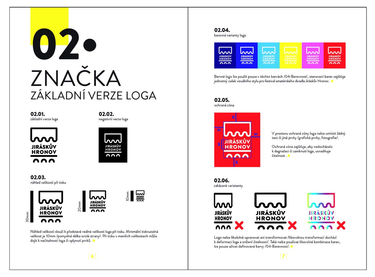 G1A01 <br> Vizuální styl festivalu Jiráskův Hronov, plakát<br> klauzurní práce | 1 ročník <br>