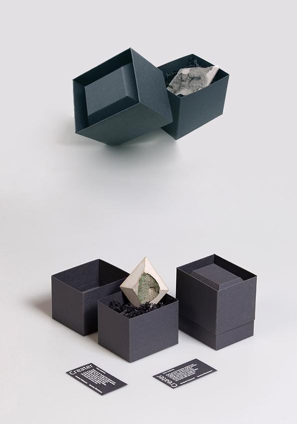 3. ročník 2020/2021<br>obal pro autorský šperk<br> šperk: Brože Creater (Veronika Šimůnková a Vendula Paldusová, SUPŠS Železný Brod) <br>klauzurní práce