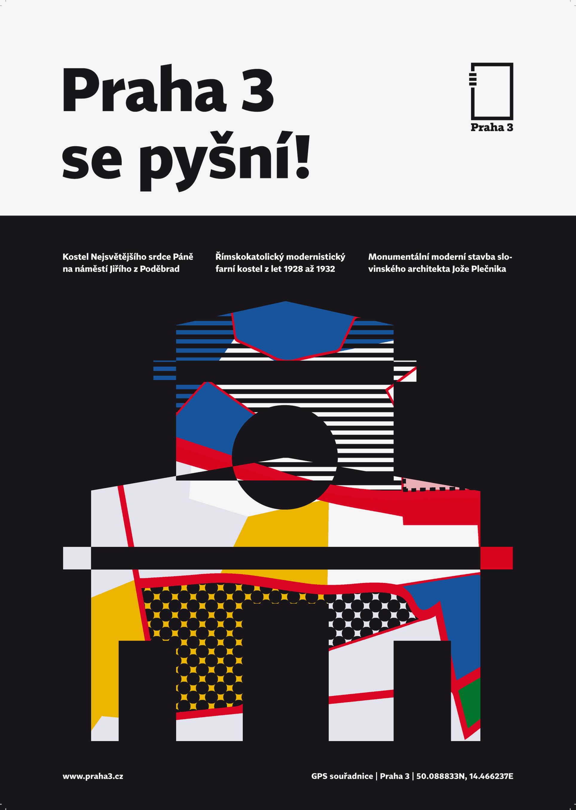 logo pro městskou část Praha 3<br> klauzurní práce | 3.ročník<br> 2019/20 G3A 01