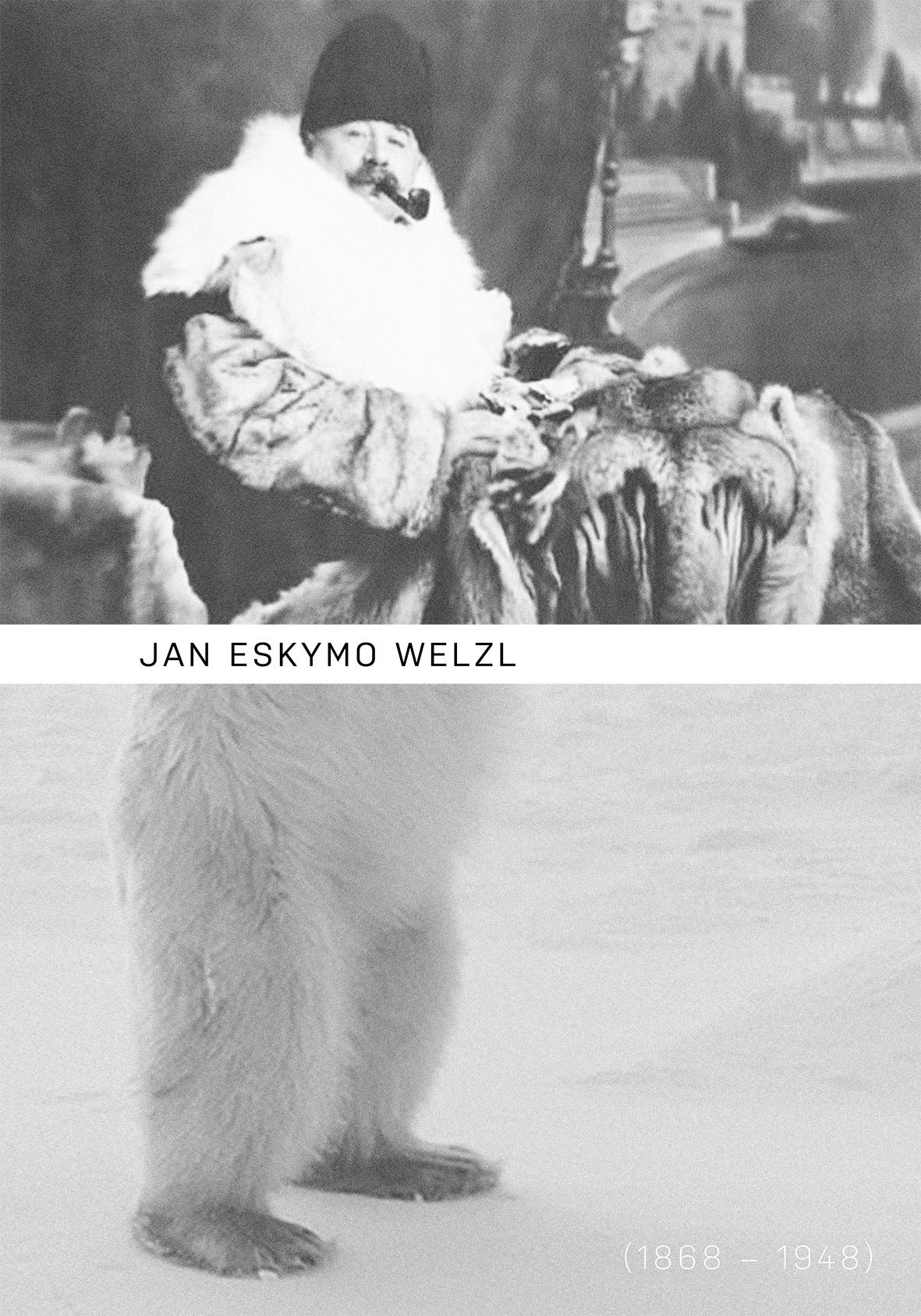 maturitní práce | 2018<br>plakát k výročí Eskymo Welzl