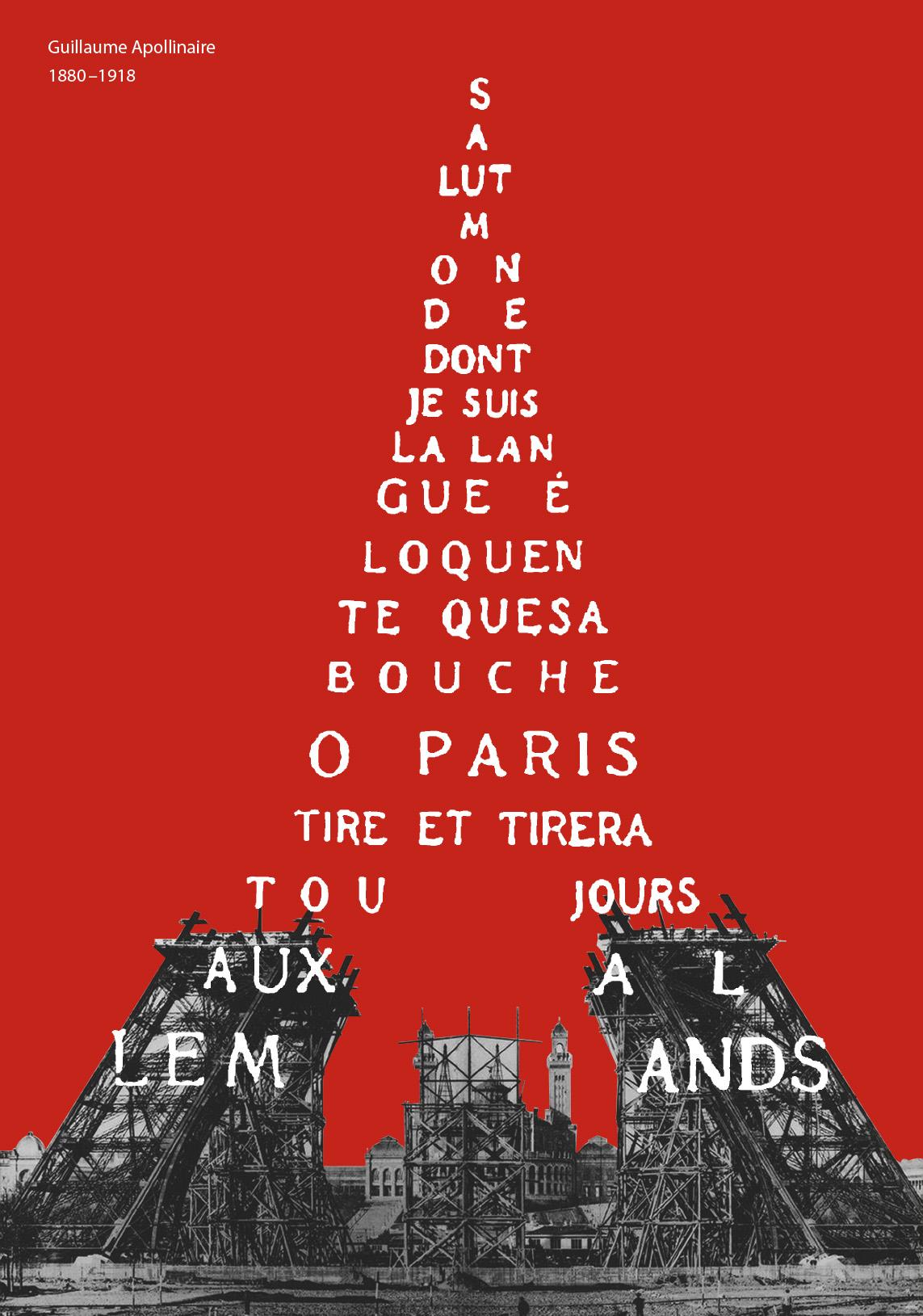 maturitní práce | 2018<br>plakát k výročí G. Apollinaire