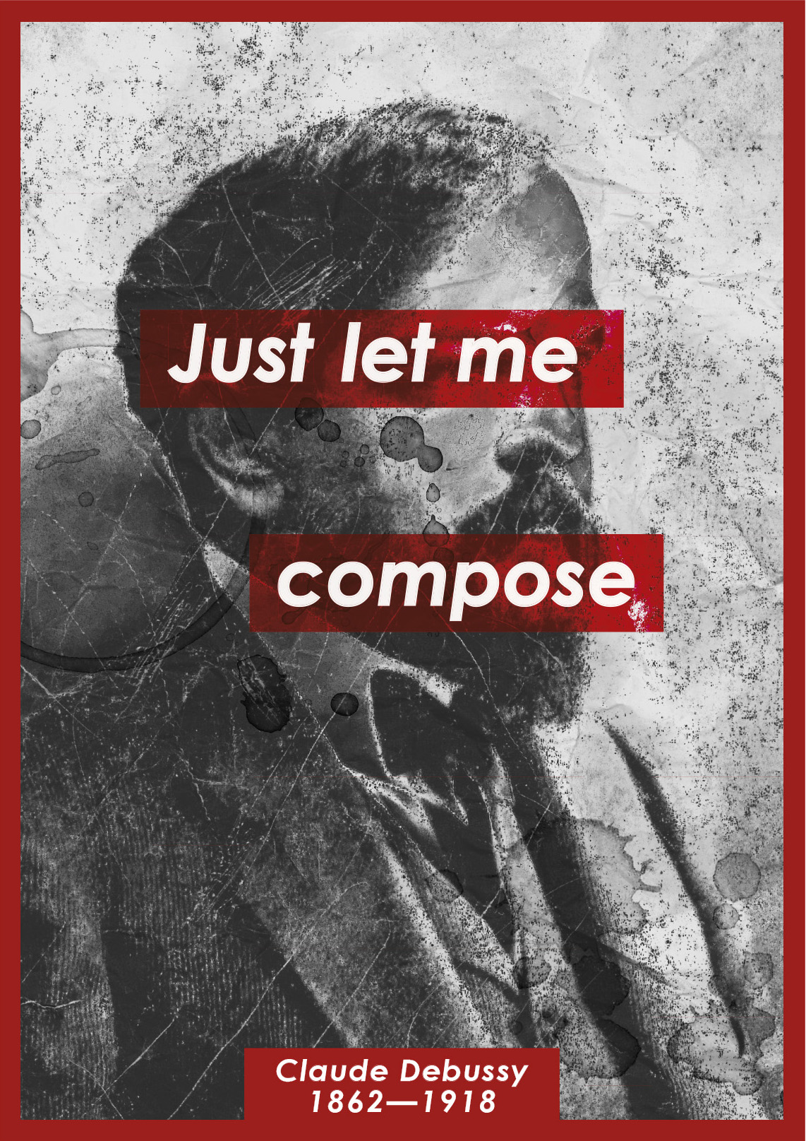 maturitní práce | 2018<br>plakát k výročí C. Debussy