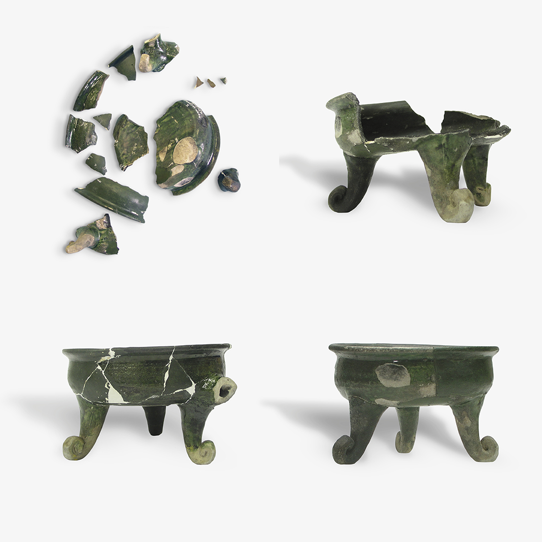4. ročník <br>2017/18 <br>Keramická nádoba tvaru trojnožky (pozdní středověk)