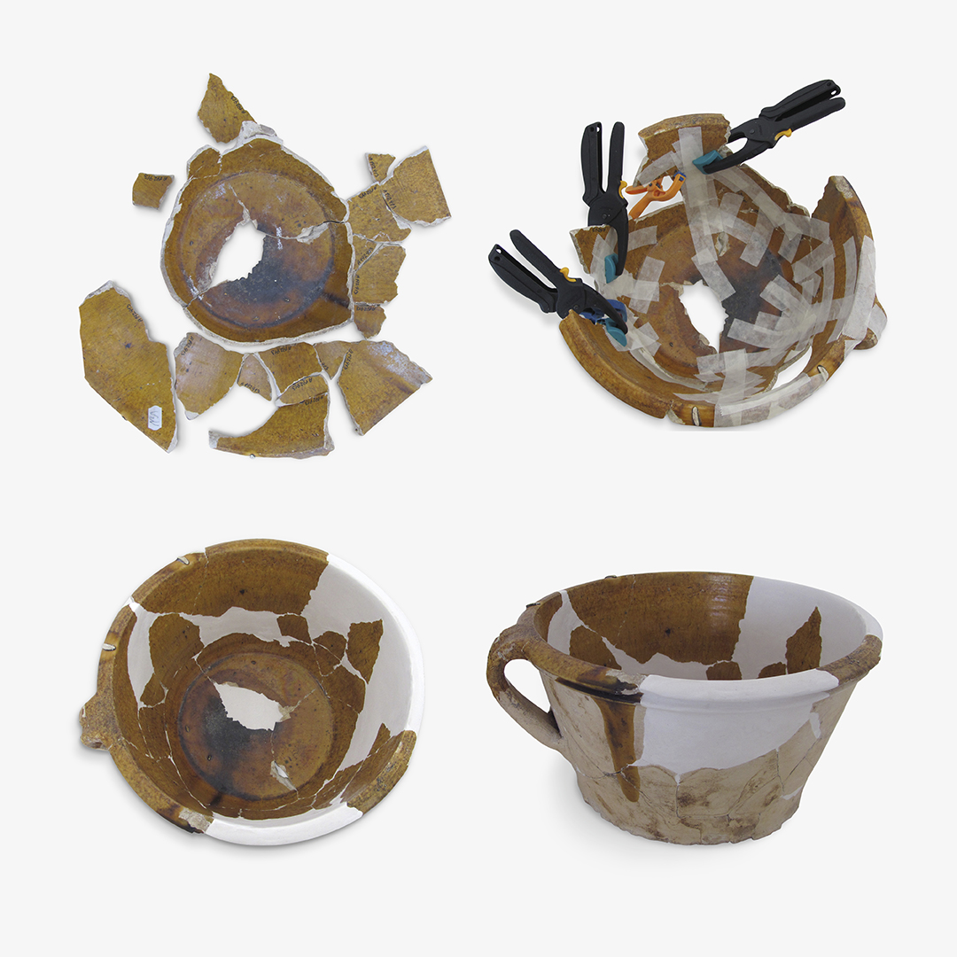 4. ročník <br>2017/18 <br>Keramická nádoba, mísa dvouuchá, <br>přelom 16. a 17. století