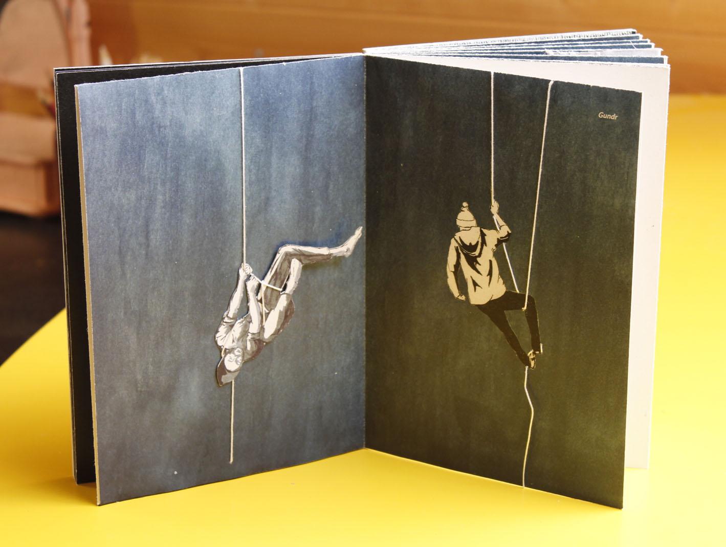 autorská kniha — DIV!<br> ukázka dvoustran<br> maturitní práce | 4.ročník