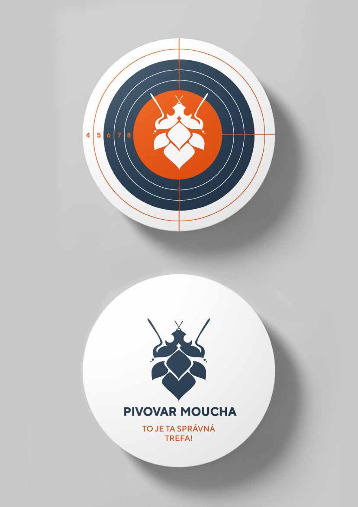 návrh značky, obalu<br> pivovar Moucha<br> semestrální práce | 1. ročník<br> 2020/2021