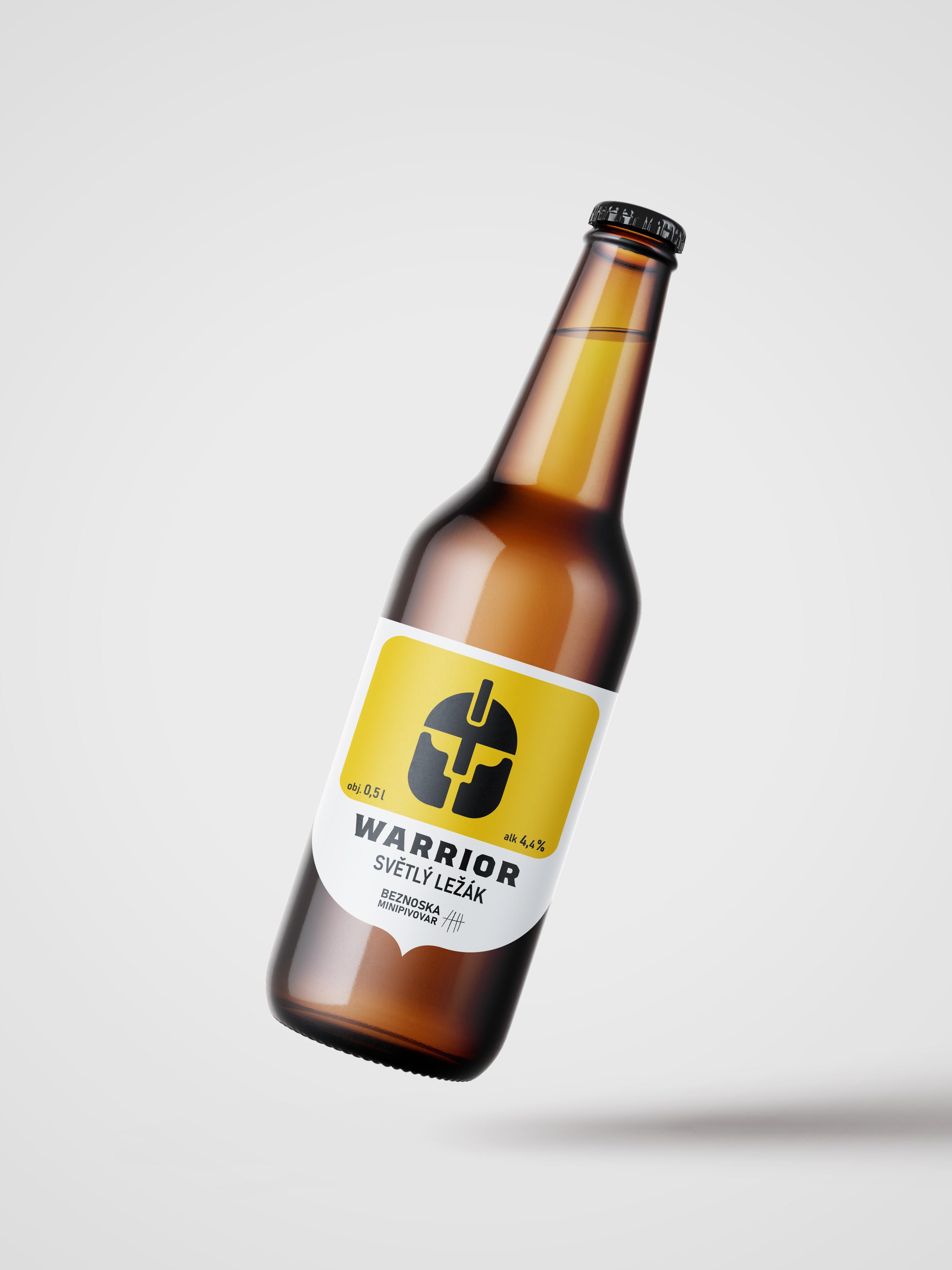 návrh značky, obalu<br> pivovar Beznoska<br> semestrální práce | 1. ročník<br> 2020/2021