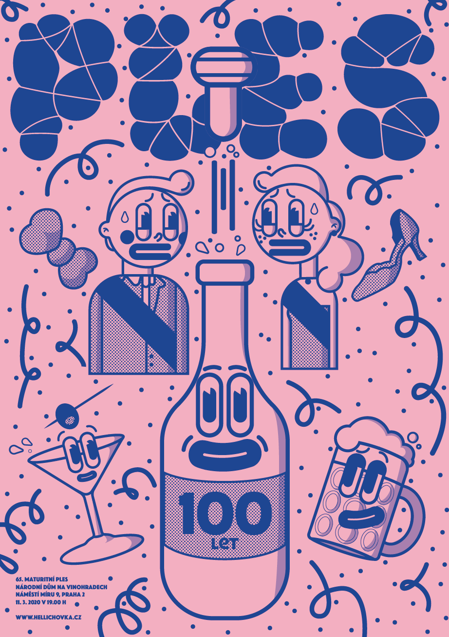 plesový plakát<br> semestrální práce | 4. ročník<br> 2020/2021