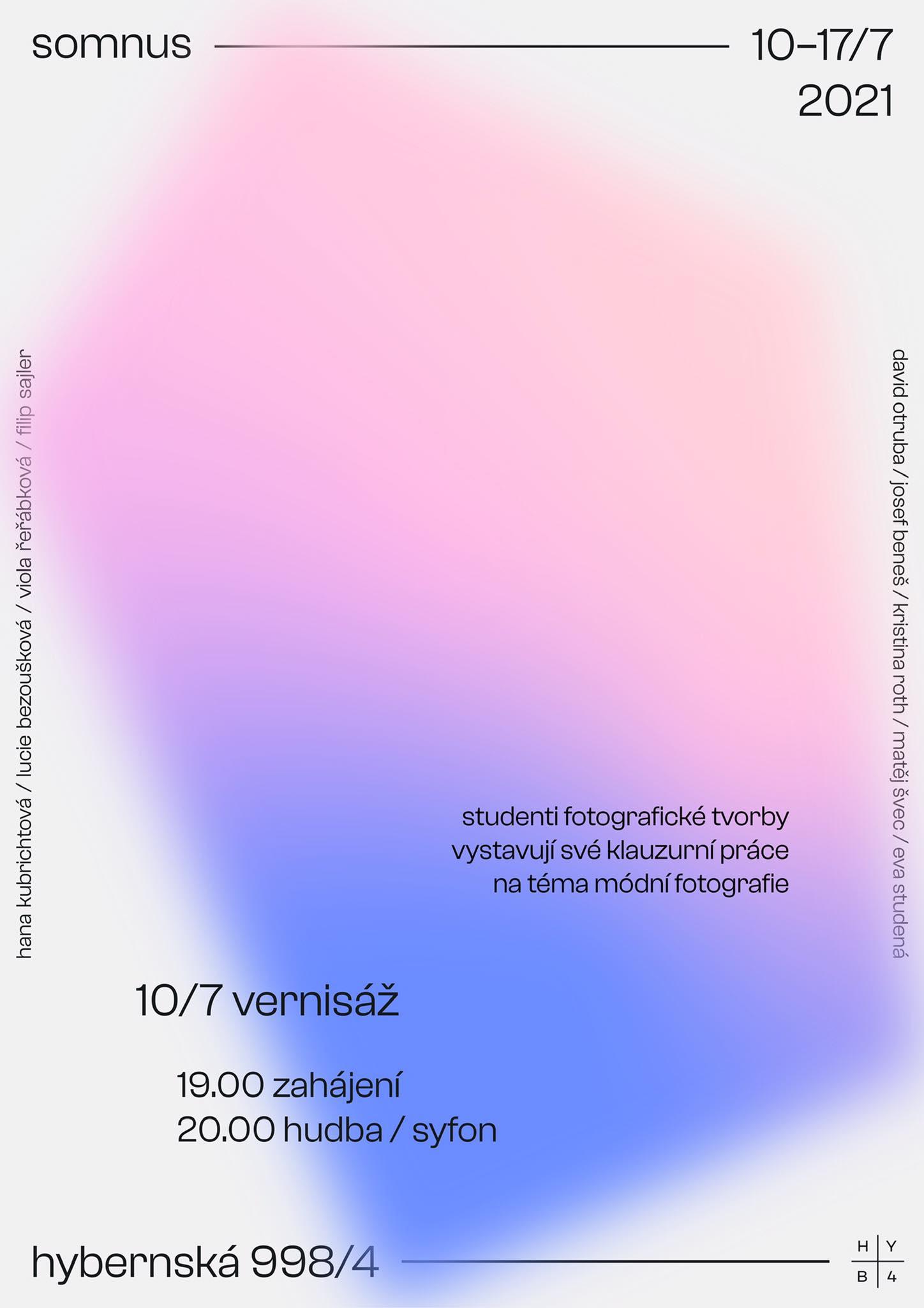 plakát k výstavě<br>10—17. 7. 2021<br>Kampus Hybernská (998/4)<br>Sklep E