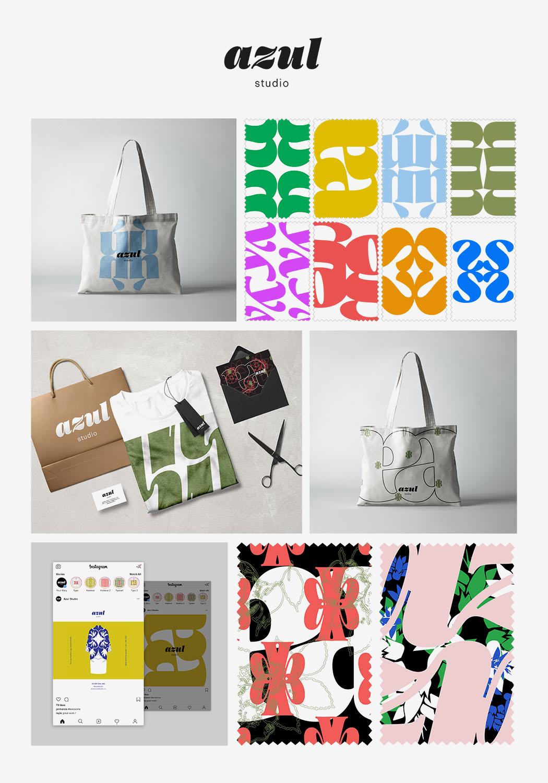 Vizuální styl společnosti Azul Studio<br>VOŠG zaměření Propagační grafika<br>školní rok 2019/2020<br>vedoucí práce Mgr.A.Johanka Ovčáčková,Ph.D.<br>ocenění vkategorii Cena veřejnosti *Junior