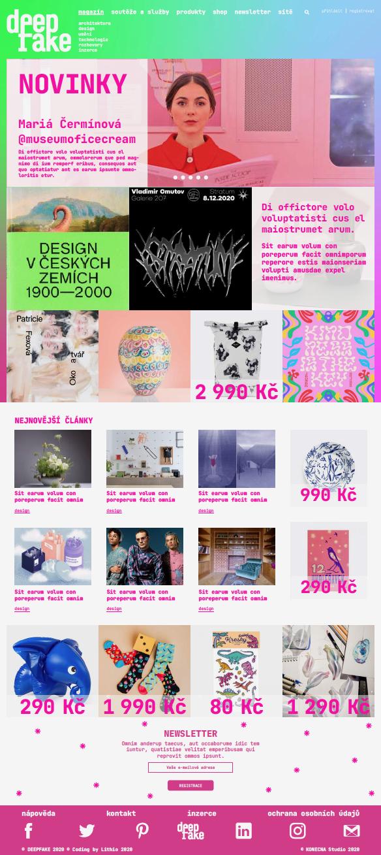 webdesign projektu DEEPFAKE<br> semestrální práce | 4. ročník<br> 2020/2021 V4g