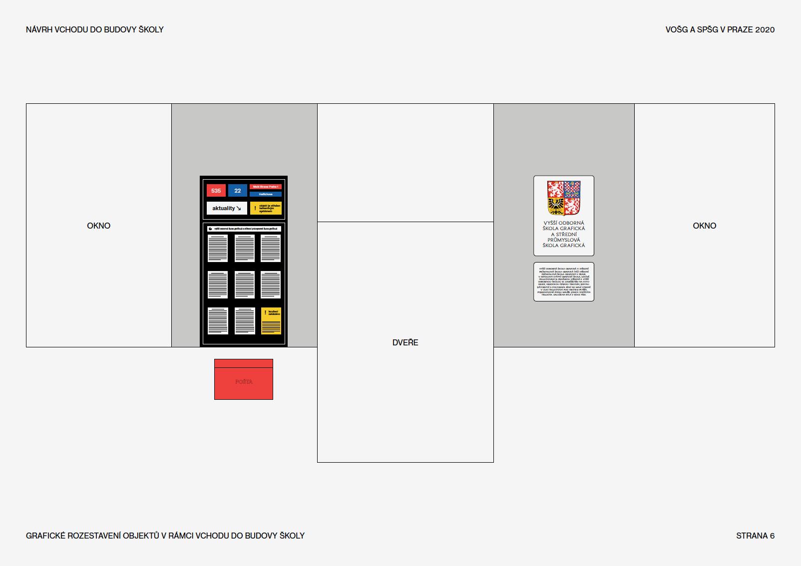 grafická úprava hlavního vchodu školy<br> semestrální práce | 4. ročník<br> 2020/2021 V4g