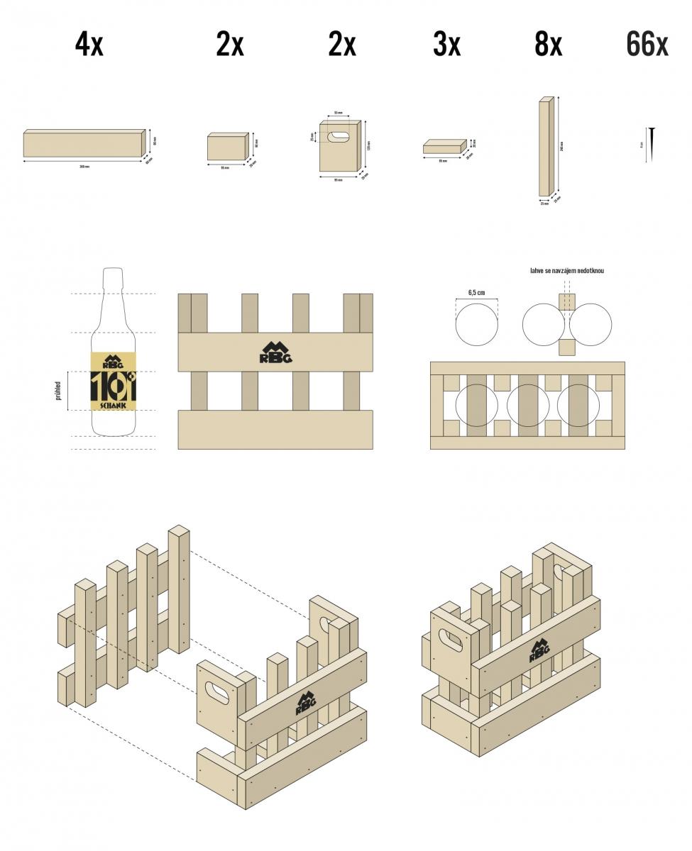 značky, autorského písma a obalů (láhev, etiketa, přepravka) pro historicky existující pivovar RMGB Maffersdorf Gablonz.<br> semestrální práce | 2. ročník<br> 2020/21 G2A 01