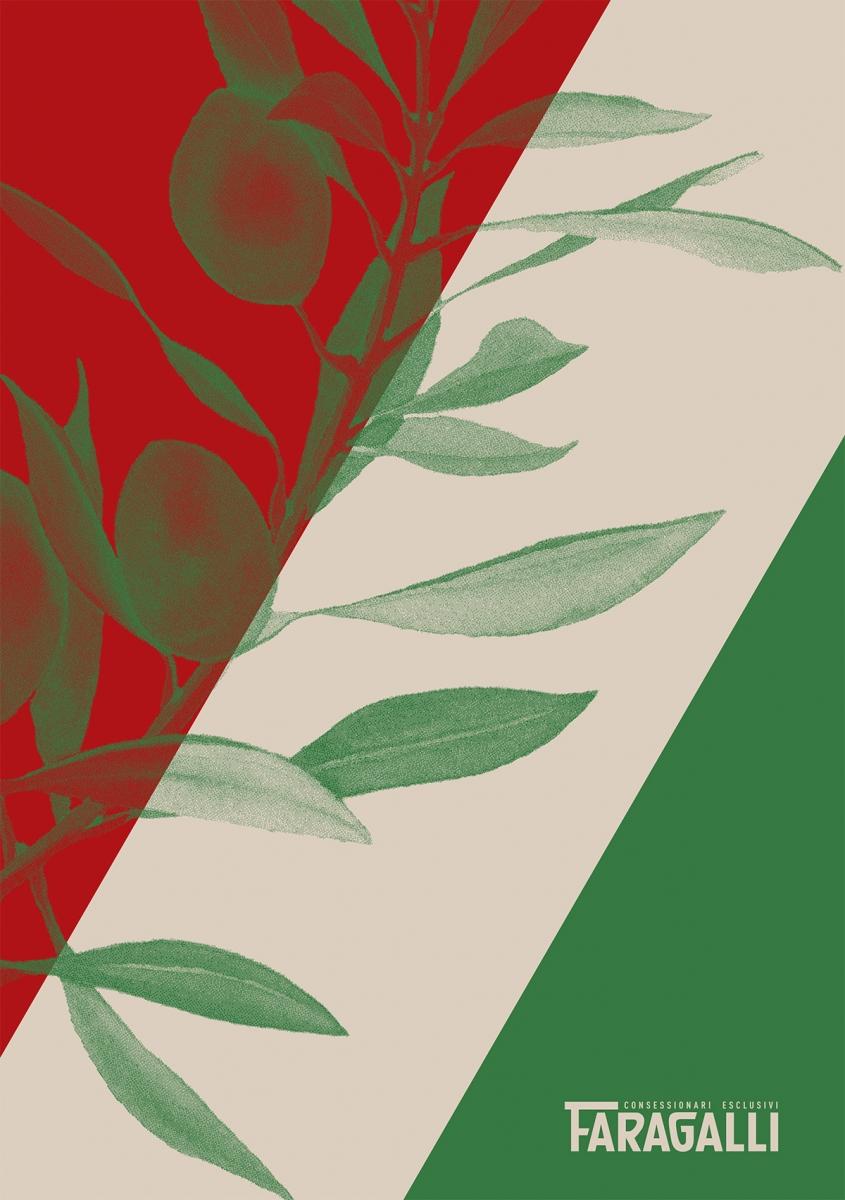 návrh značky a obalu pro historicky existujícího producenta olivového oleje Faragalli<br> semestrální práce | 2. ročník<br> 2020/21 G2A 01
